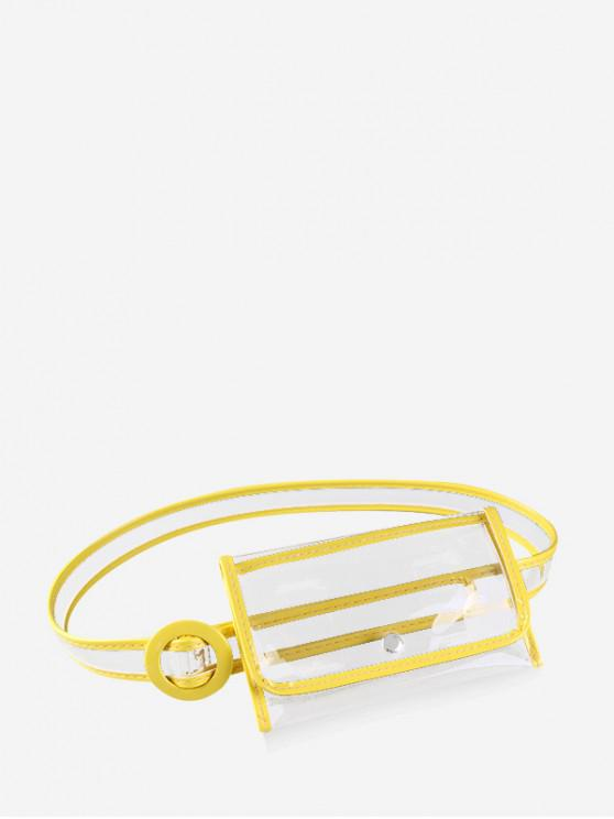 Bolso de cintura elegante estilo plástico ins - Amarillo