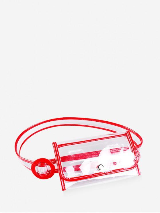 إنس ستايل حقيبة الخصر البلاستيكية الأنيقة - أحمر