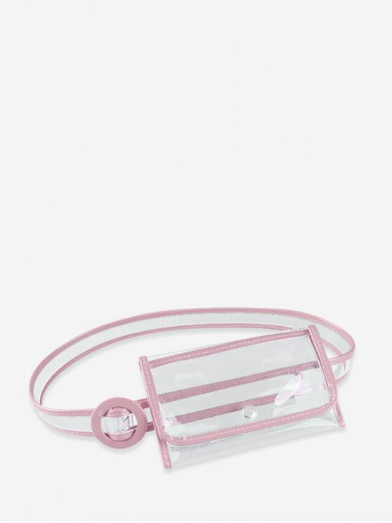 unique Ins Style Plastic Stylish Waist Bag - PINK