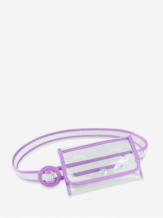 Bolso de cintura elegante estilo plástico ins - Violeta