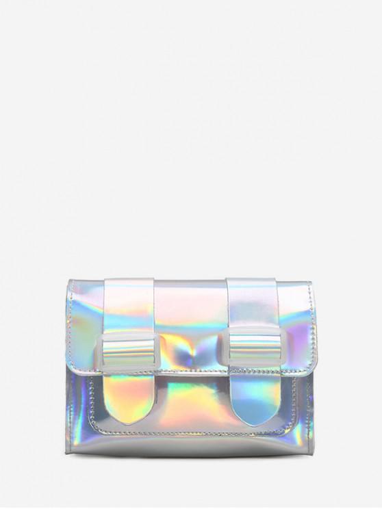 hot Laser Square Shoulder Bag - SILVER