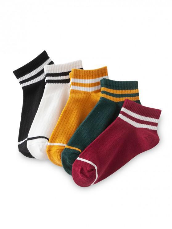 ถุงเท้ากีฬาข้อเท้าลายทางระบายอากาศ - หลาย-A