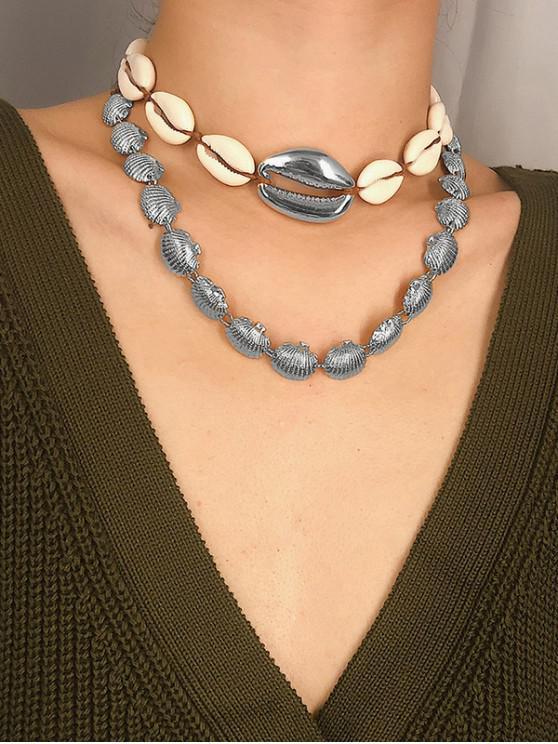 lady Bohemia Natural Shell Choker Necklace - SILVER