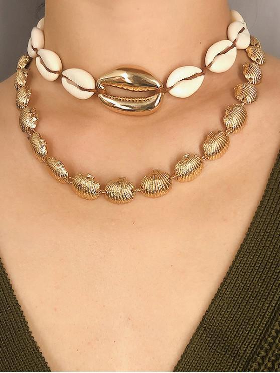 hot Bohemia Natural Shell Choker Necklace - GOLD