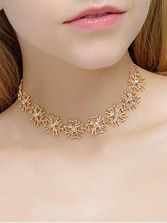 latest Bohemia Metal Chain Choker Necklace - GOLD