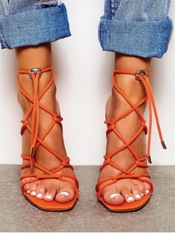 รองเท้าส้นสูงแบบผูกเชือก - เสือโคร่ง EU 41