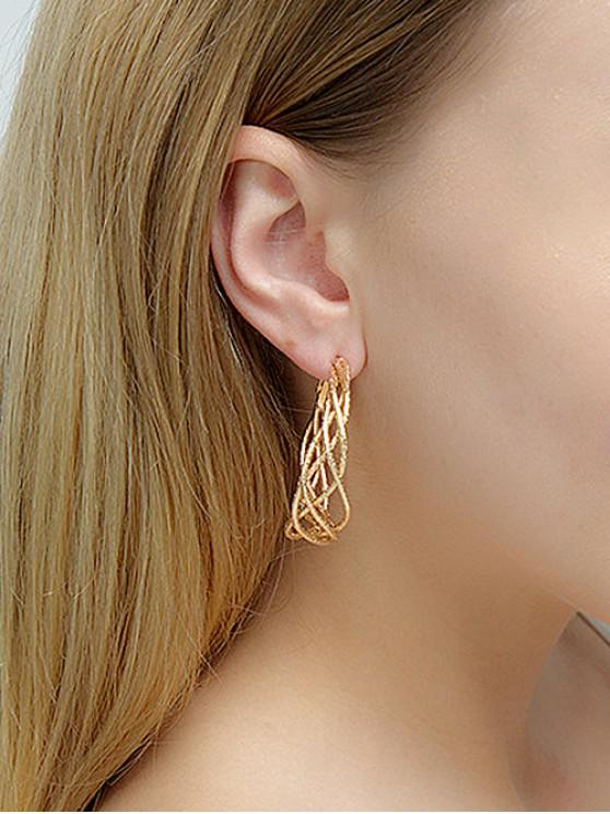 outfits Chic Ring Hoop Earrings - GOLD