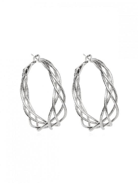 Pendientes elegantes anillo de aro - Plata