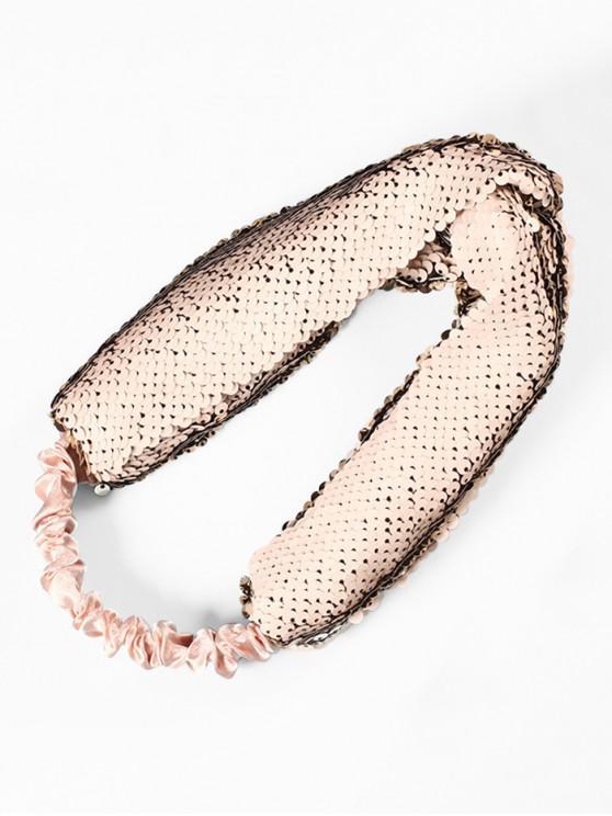 Diadema elástica de tela de lentejuelas - Gris
