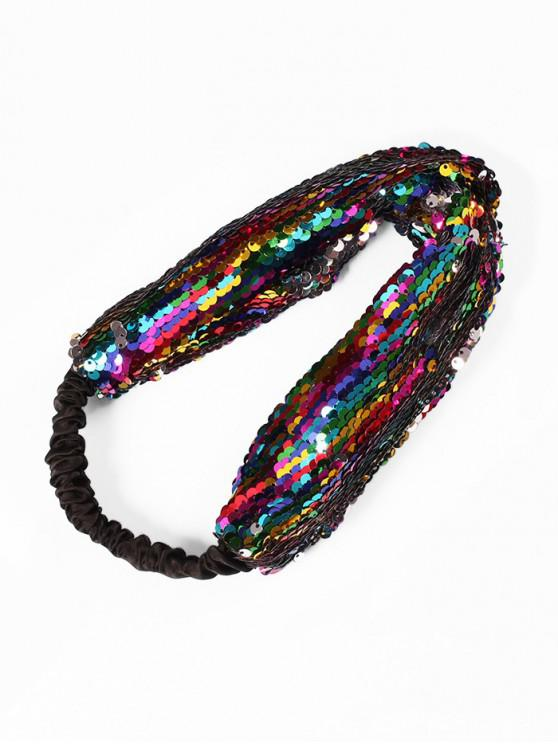 Diadema elástica de tela de lentejuelas - Multicolor-A