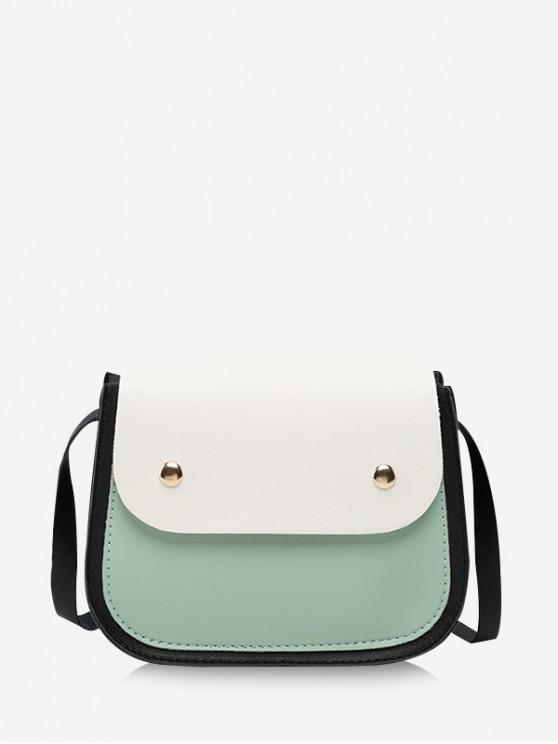 best Small Simple Jointed Crossbody Bag - PALE BLUE LILY