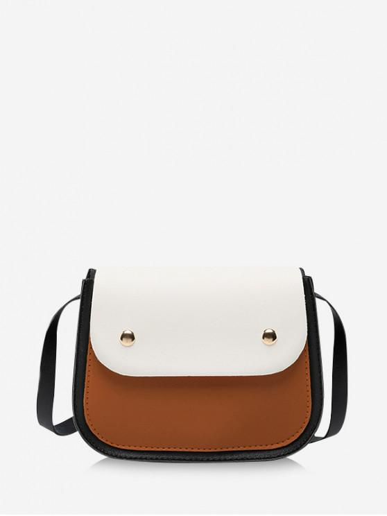 outfits Small Simple Jointed Crossbody Bag - RUST