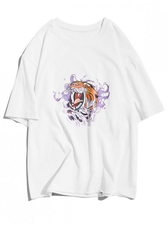 T-shirt à manches courtes avec graphique de l'eau - Blanc L