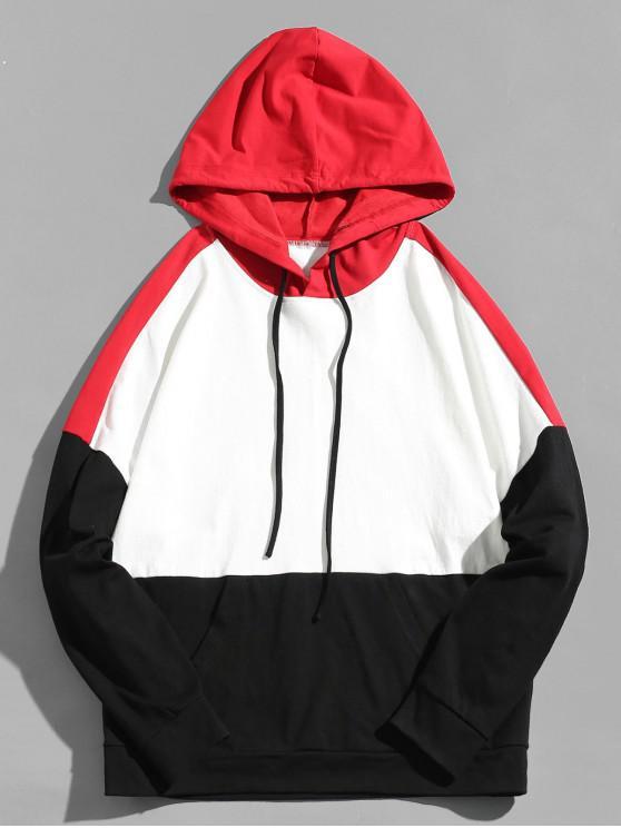 Felpa con cappuccio e tasca portadocumenti ZAFUL Color Block - Multi Colori-A L