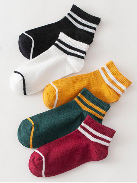 Полосатые Спортивные Дышащие Носки - Многоцветный-A  Mobile
