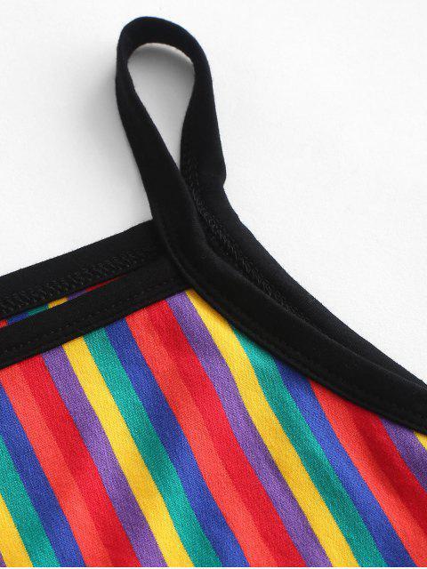 ZAFUL Cami Haut À Rayures Rainbow À Rayures - Multi-C M Mobile