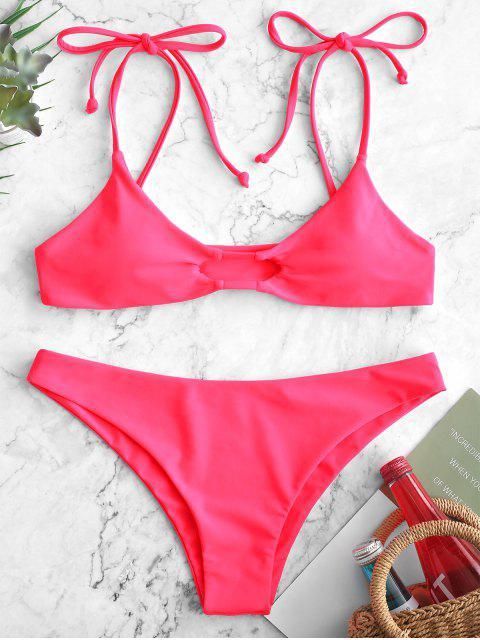 ZAFUL Maillot de Bain Néon Bikini Evidé - Rouge Rose L Mobile