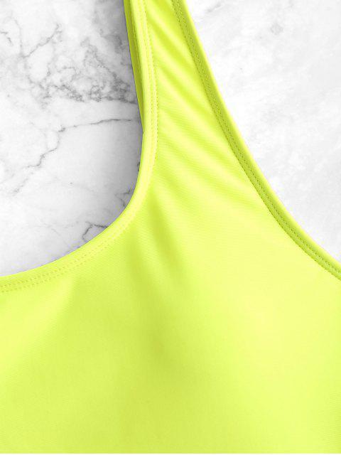 Traje de baño sin espalda de corte alto - Té Verde L Mobile