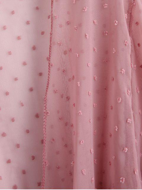 С бантом Вязание Накидка Принт в горошек - Розовый Один размер Mobile