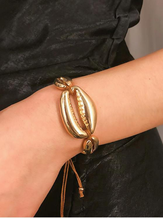 unique Adjustable Metallic Shell Bracelet - GOLD