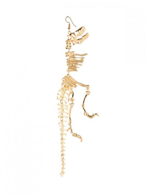 buy 1PC Dinosaur Skeleton Earring - GOLD