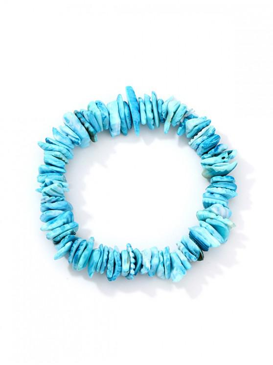 hot Beach Acrylic Shell Strand Bracelet - DEEP SKY BLUE
