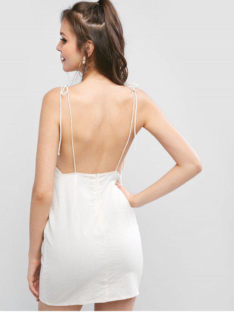 ZAFUL Robe Nouée Sans Dos à Bretelle - Blanc Chaud M Mobile
