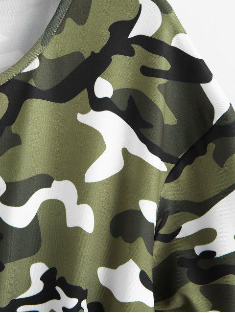 Barboteuse Camouflage Nouée à Col Rond - Multi-A 2XL Mobile