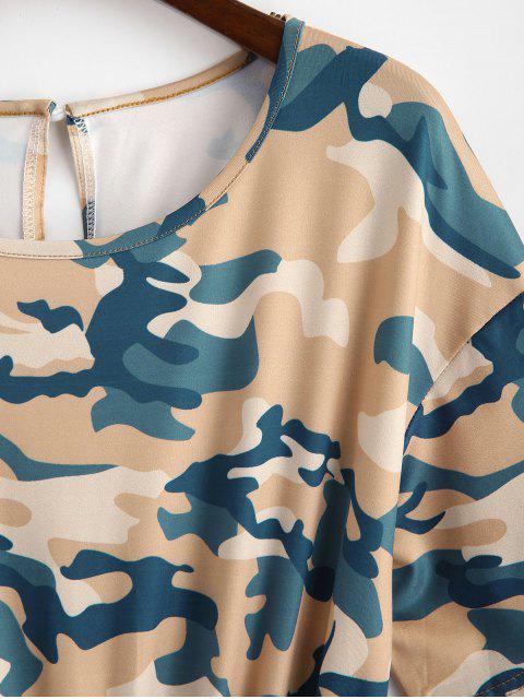 Barboteuse Camouflage Nouée à Col Rond - Multi-B L Mobile