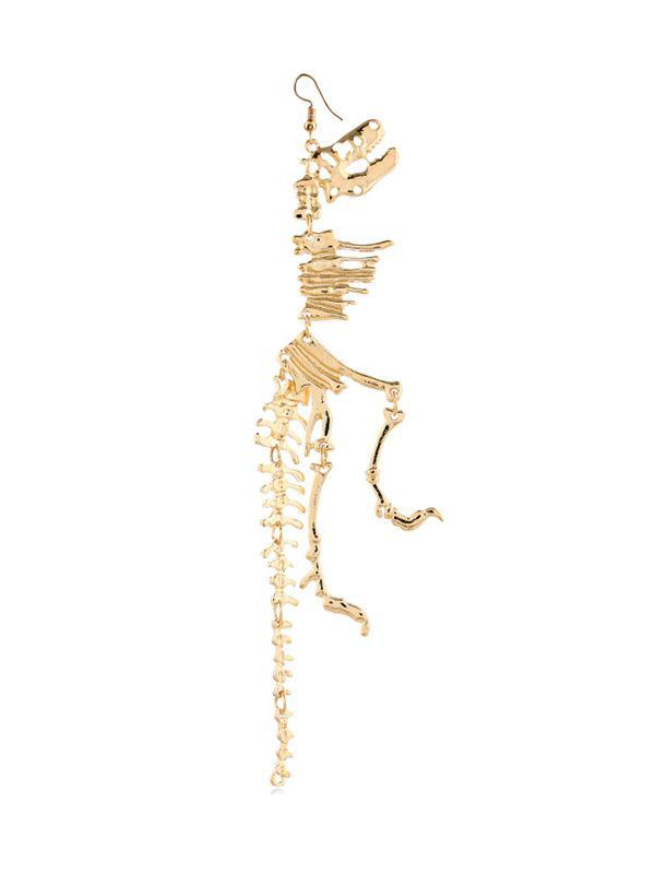 1PC Dinosaur Skeleton Earring