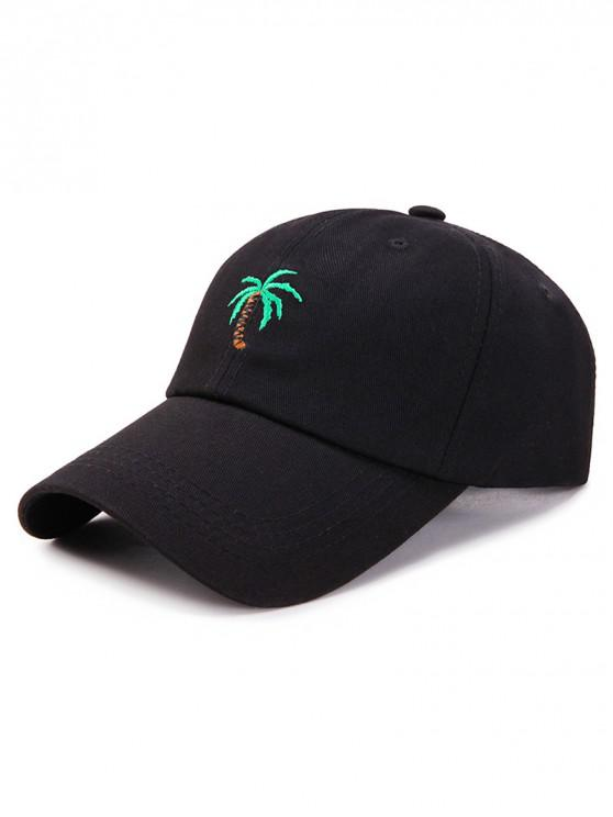 new Coconut Palm Embroidery Baseball Cap - BLACK