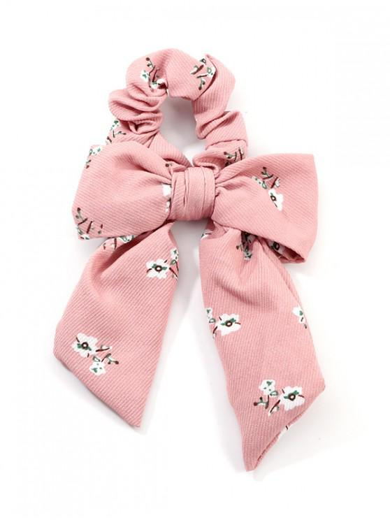 affordable Bowknot Tiny Floral Print Scrunchy - PINK