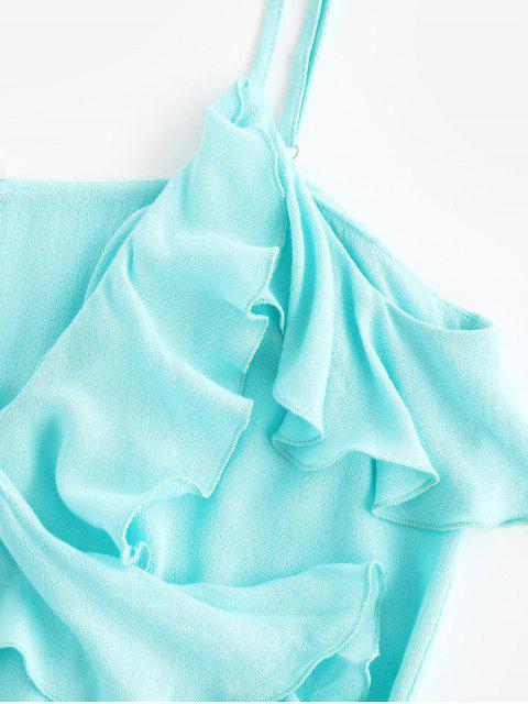 ZAFUL Haut Enveloppé en Couleur Unie à Bretelle - Bleu Tron S Mobile