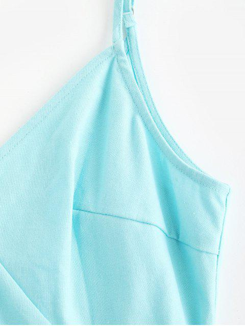 ZAFUL Mini Robe Boutonnée à Bretelle - Céleste S Mobile