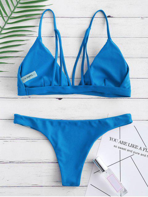 Мягкий купальник на спине - Океан-синий M Mobile