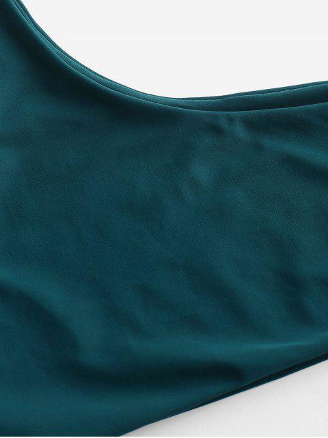 Ensemble de Bikini à Une Epaule - Paon Bleu S Mobile