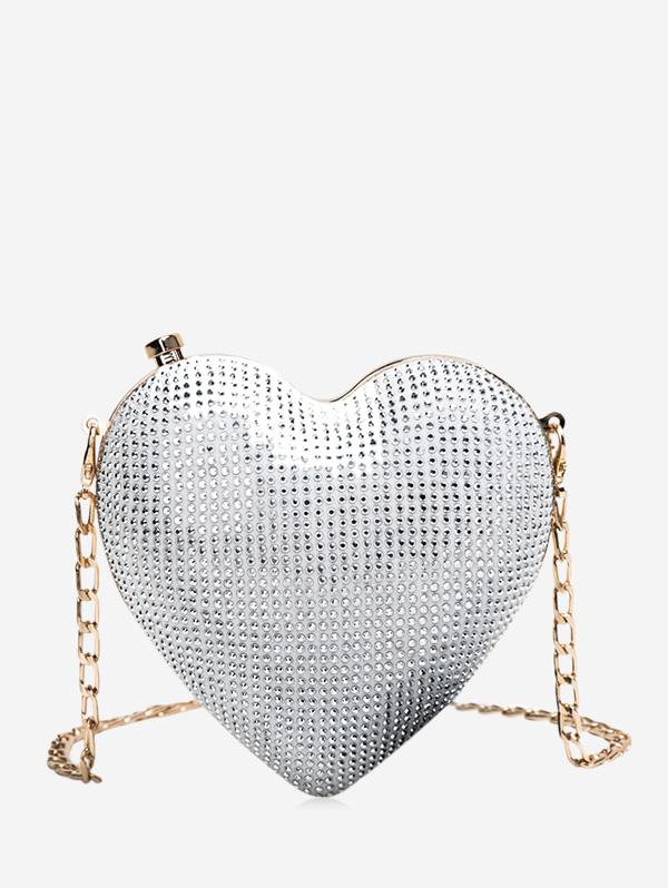 A Forma Di Cuore Catena Crossbody Bag