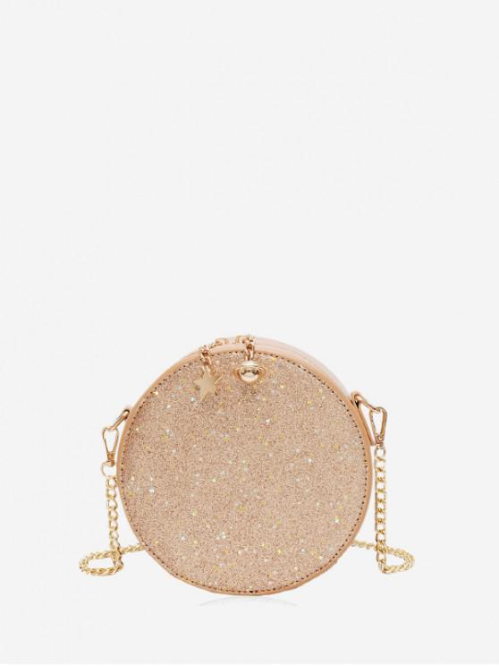 outfit Round Star Planet Glitter Crossbody Bag - GOLD