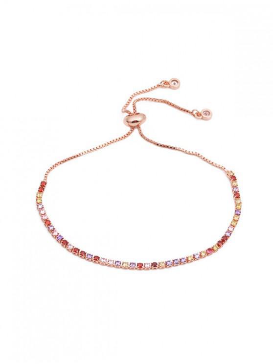 sale Colorful Zircon Decoration Alloy Bracelet - MULTI-A