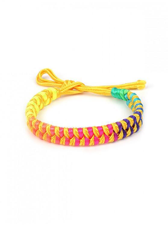 buy Colorful Decoration Knitted Bracelet - MULTI-B