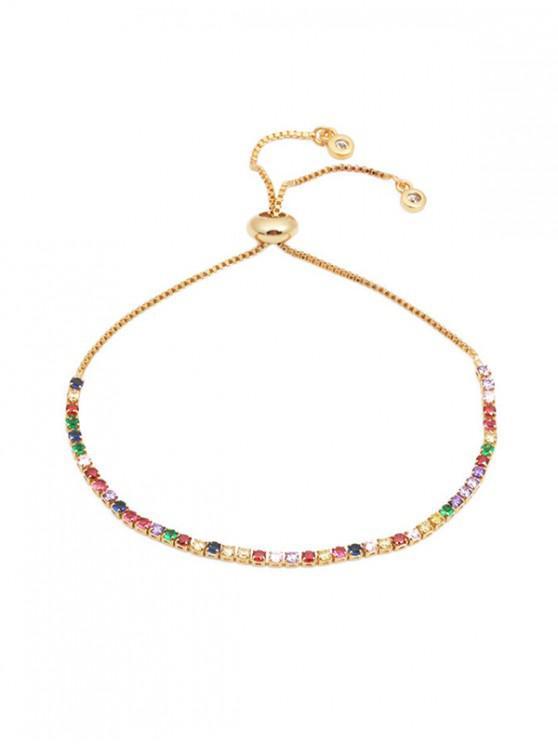 women Colorful Zircon Decoration Alloy Bracelet - MULTI-B