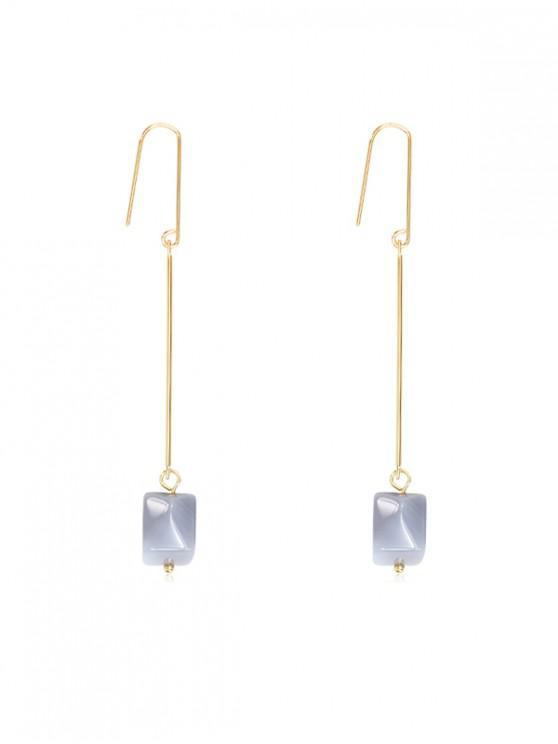 women's Stone Design Alloy Drop Earrings - LAVENDER BLUE