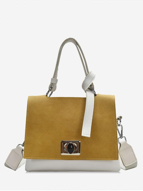 online Square Hasp Small Shoulder Bag - WARM WHITE