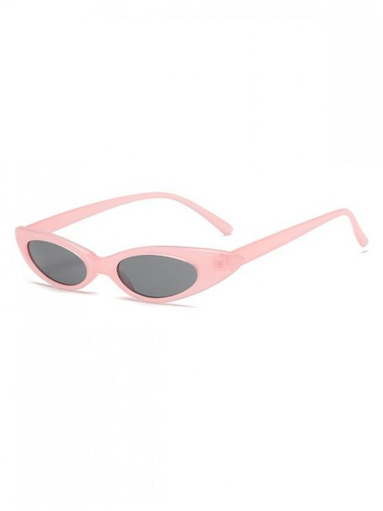 online Stylish Oval Shape Outdoor Sunglasses - PINK
