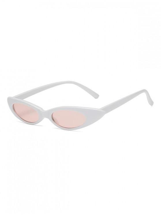 ladies Stylish Oval Shape Outdoor Sunglasses - WHITE