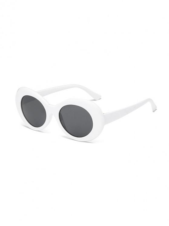 hot Vintage Round Shape Outdoor Sunglasses - WHITE
