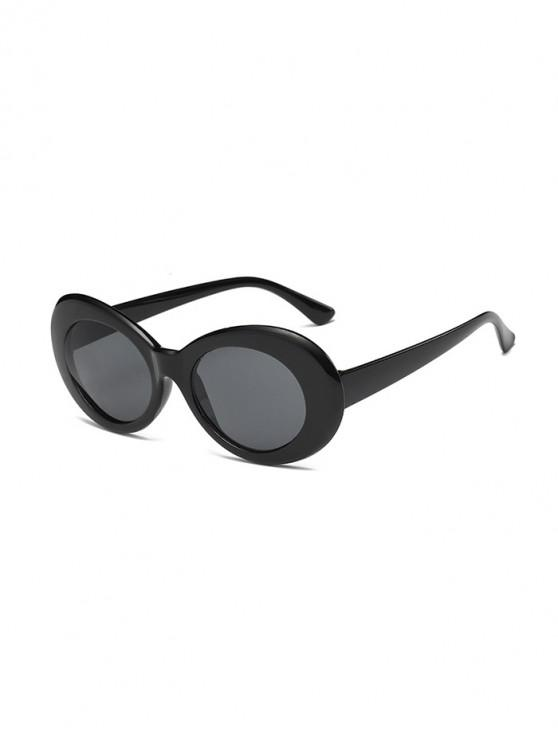outfit Vintage Round Shape Outdoor Sunglasses - BLACK