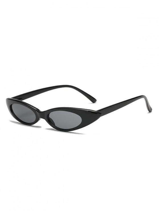 shops Stylish Oval Shape Outdoor Sunglasses - BLACK