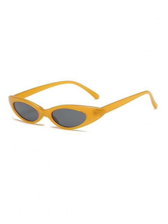 trendy Stylish Oval Shape Outdoor Sunglasses - BEE YELLOW