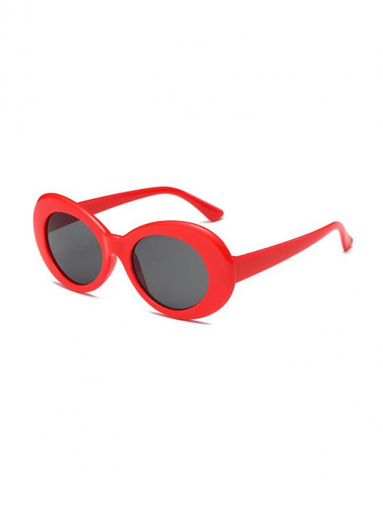 womens Vintage Round Shape Outdoor Sunglasses - RED